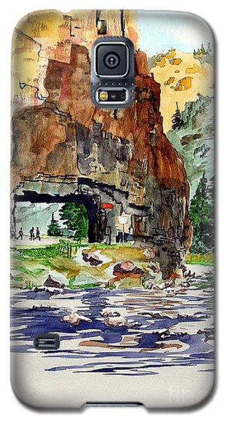 Galaxy S5 Case featuring the painting Running In The Poudre Canyon by Tom Riggs