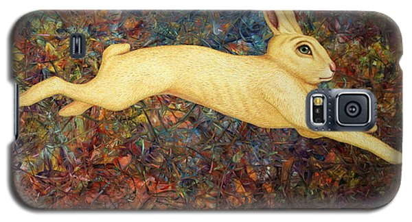 Rabbit Galaxy S5 Case - Running Rabbit by James W Johnson