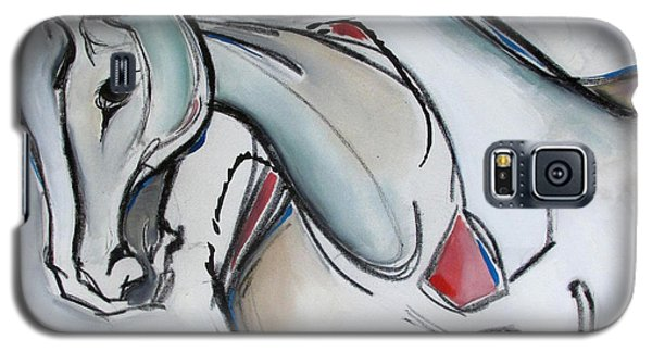 Galaxy S5 Case featuring the painting Running Wild by Nicole Gaitan