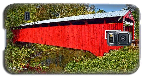 Galaxy S5 Case featuring the photograph Rupert Covered Bridge Pennsylvania by A Gurmankin