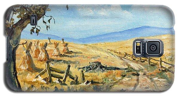 Rural Farmland Americana Folk Art Autumn Harvest Ranch Galaxy S5 Case