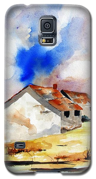 Rural Houses And Dramatic Sky Galaxy S5 Case by Carlin Blahnik