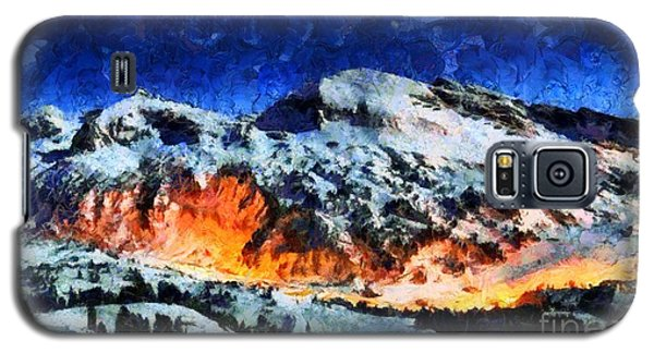 Galaxy S5 Case featuring the painting Rural Radiance  by Elizabeth Coats