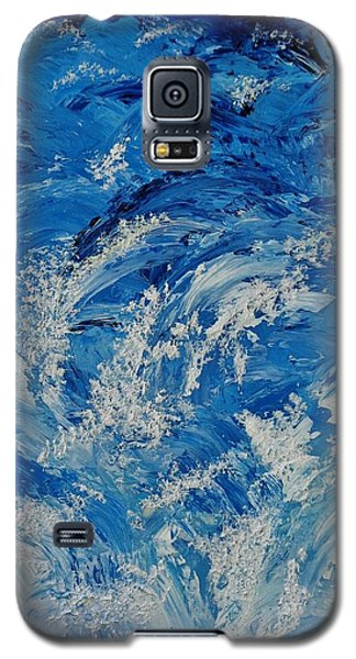 Galaxy S5 Case featuring the painting Rush by Katherine Young-Beck