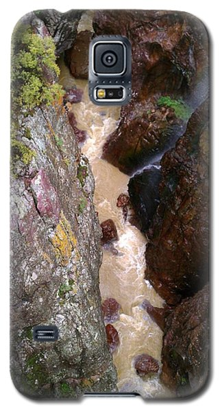 Galaxy S5 Case featuring the photograph Rushing Crevasse by Fortunate Findings Shirley Dickerson