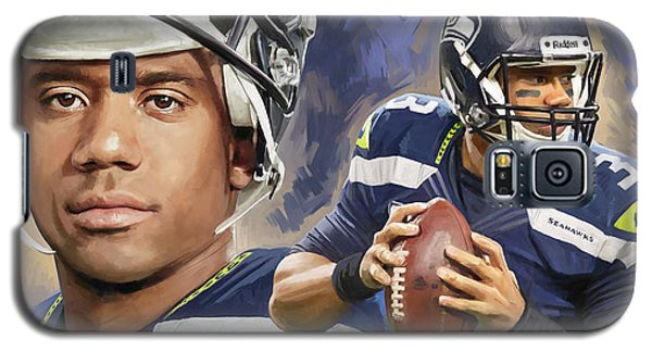 Galaxy S5 Case featuring the painting Russell Wilson Artwork by Sheraz A