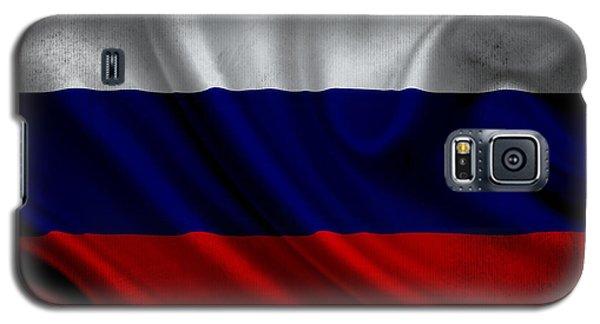 Russian Flag Waving On Canvas Galaxy S5 Case by Eti Reid