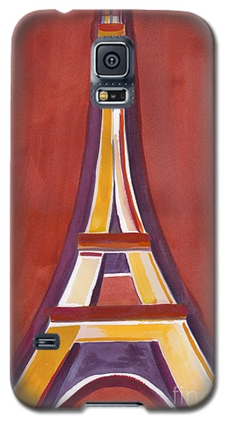 Rust Yellow Eiffel Tower Galaxy S5 Case