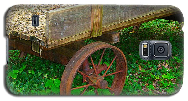 Rusted Wagon Wheel Galaxy S5 Case
