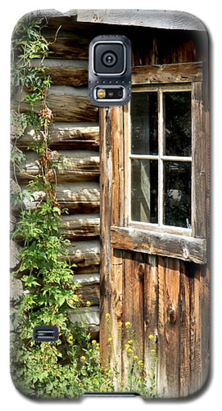 Rustic Cabin Window Galaxy S5 Case by Athena Mckinzie