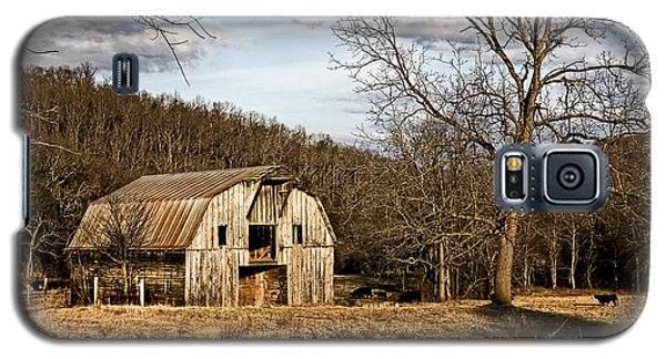 Galaxy S5 Case featuring the photograph Rustic Hay Barn by Robert Camp