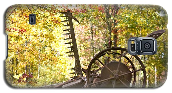 Galaxy S5 Case featuring the photograph Rustic Hay Cutter by Robert Camp