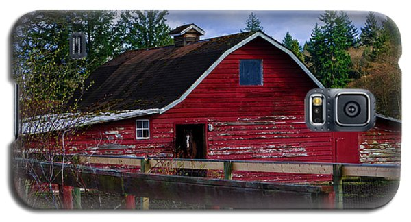 Galaxy S5 Case featuring the photograph Rustic Old Horse Barn by Jordan Blackstone