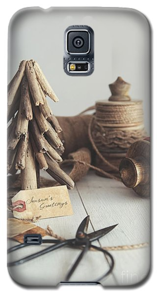 Rustic Twine And Ribbon For Wrapping Gifts Galaxy S5 Case