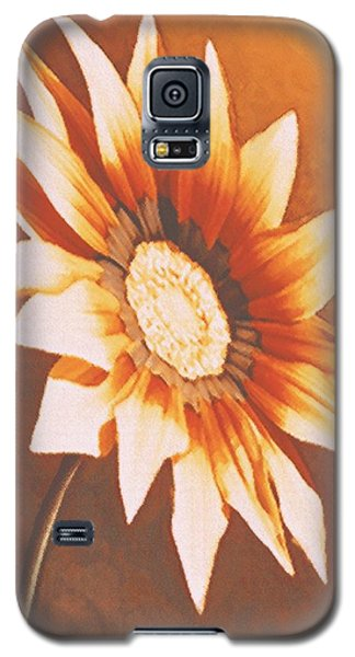 Galaxy S5 Case featuring the painting Rusty Gazania by Sophia Schmierer