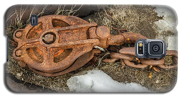 Rusty Pulley And Chain Galaxy S5 Case