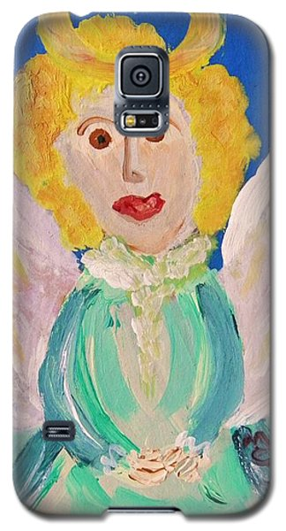 Galaxy S5 Case featuring the painting Ruth E. Angel by Mary Carol Williams