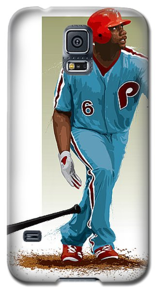 Galaxy S5 Case featuring the digital art Ryan Howard by Scott Weigner