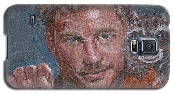Galaxy S5 Case featuring the painting S Is For Starlord And R Is For Rocket by Jessmyne Stephenson