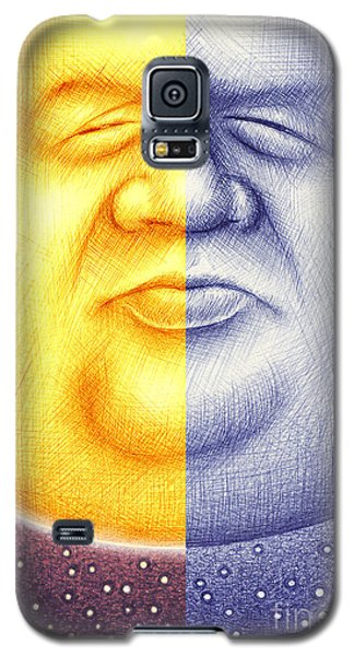 Galaxy S5 Case featuring the digital art S O L U N A  by Cristophers Dream Artistry