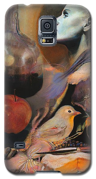Galaxy S5 Case featuring the mixed media Soul Food - With Title And Light Border by Brooks Garten Hauschild