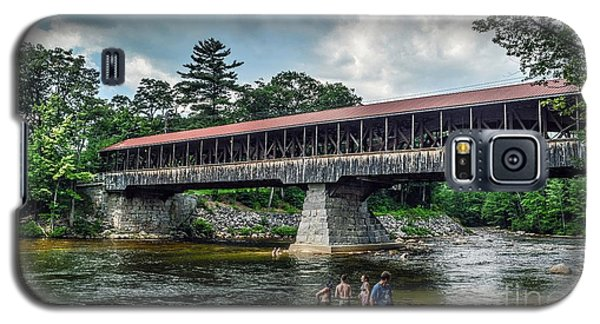 Galaxy S5 Case featuring the photograph Saco River Covered Bridge  by Debbie Green