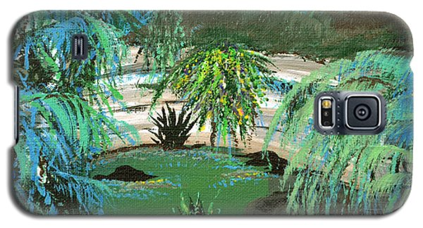 Galaxy S5 Case featuring the painting Sacred Cenote At Chichen Itza by Alys Caviness-Gober