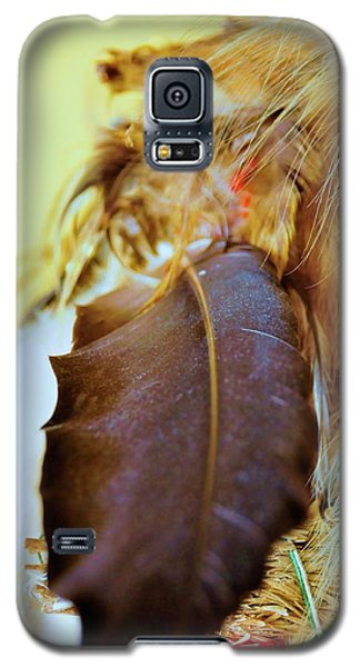 Sacred Eagle Feather  Galaxy S5 Case by Kicking Bear  Productions