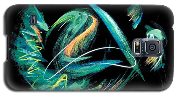 Galaxy S5 Case featuring the painting Sacred Feather Dance by Asha Carolyn Young