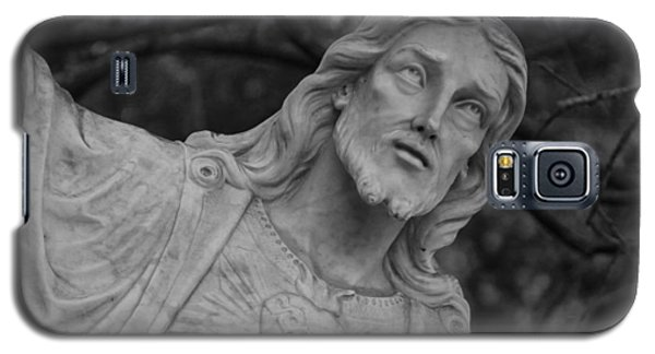 Sacred Heart Of Jesus - Bw Galaxy S5 Case by Beth Vincent