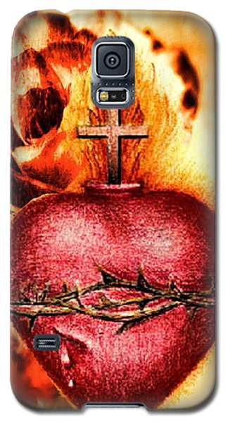Sacred Heart Of Jesus Christ With Rose Galaxy S5 Case