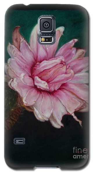 Galaxy S5 Case featuring the painting Sacred Red Lotus by Mukta Gupta