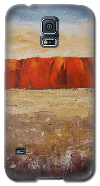 Galaxy S5 Case featuring the painting Sacred Rock by Jane  See
