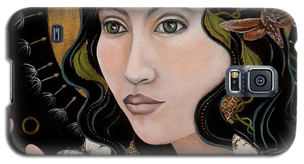 Galaxy S5 Case featuring the painting Sacred by Sheri Howe