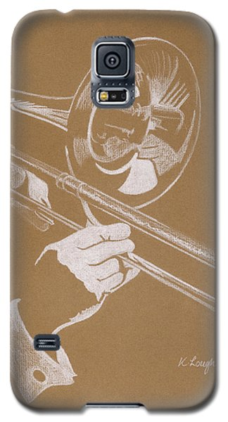 Music Galaxy S5 Case - Sacred Trombone by Karen  Loughridge KLArt