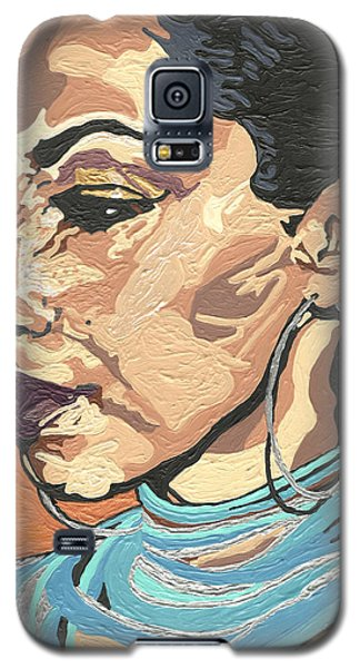 Galaxy S5 Case featuring the painting Sade Adu by Rachel Natalie Rawlins