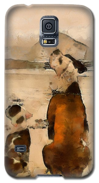 Galaxy S5 Case featuring the painting Sadness  by Georgi Dimitrov