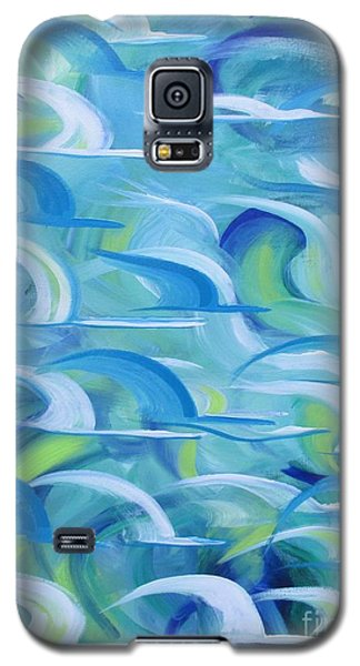 Galaxy S5 Case featuring the painting Safe Beneath The Wings by Nereida Rodriguez