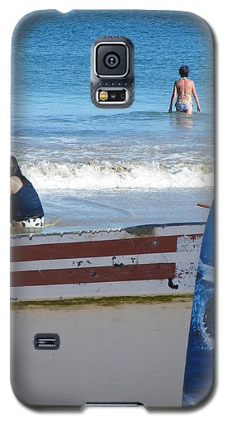 Galaxy S5 Case featuring the photograph Safe To Go In The Water by Brian Boyle