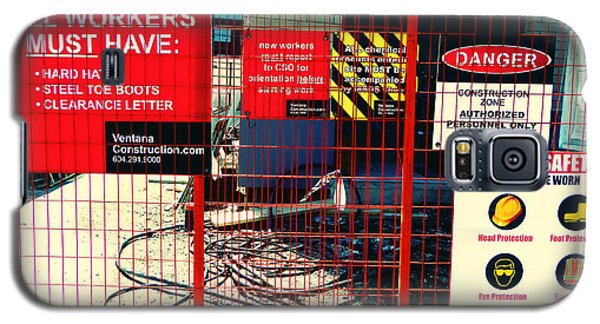 Galaxy S5 Case featuring the photograph Safety Signs by Laurie Tsemak
