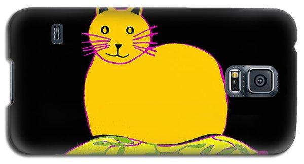 Saffron Cat On Black Galaxy S5 Case