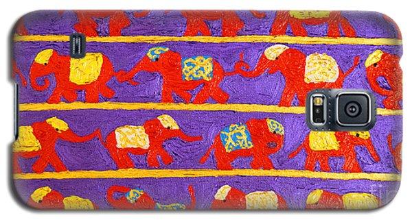Saffron Elephants Galaxy S5 Case by Cassandra Buckley