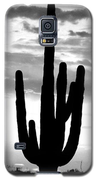 Saguaro In Black And White Galaxy S5 Case by Elizabeth Budd