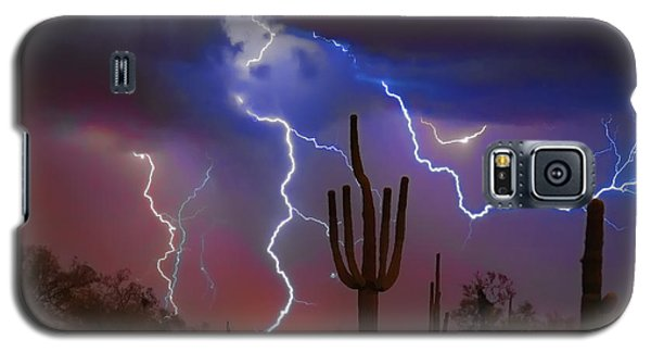 Saguaro Lightning Nature Fine Art Photograph Galaxy S5 Case