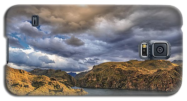 Galaxy S5 Case featuring the photograph Saguaro Storms by Anthony Citro