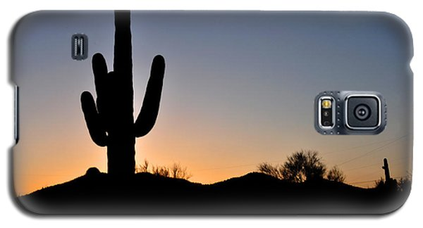 Galaxy S5 Case featuring the photograph Saguaro Sunset by Diane Lent