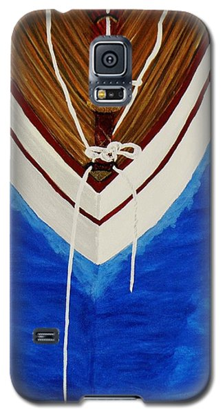 Galaxy S5 Case featuring the painting Sail On by Celeste Manning