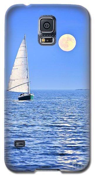 Sailboat At Full Moon Galaxy S5 Case