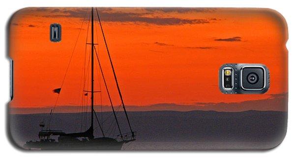 Sailboat At Sunset Galaxy S5 Case by Marcia Socolik