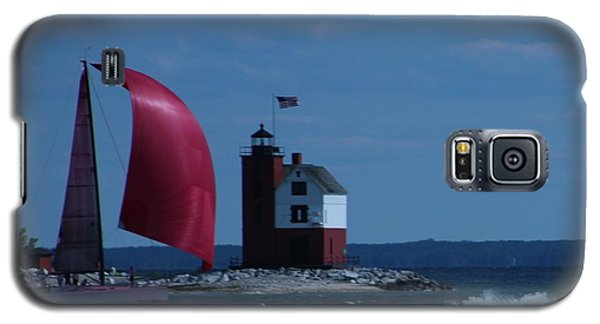 Sailboat Crossing Finish Line Galaxy S5 Case by Bill Woodstock